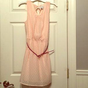 Baby pink dress with dark pink belt. Worn once